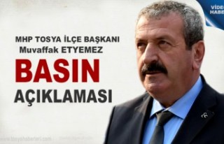 MHP Tosya İlçe Başkanlığı Gündeme dair Basın...