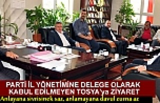 AK PARTİ KASTAMONU İL BAŞKANI TOSYA ZİYARETİ