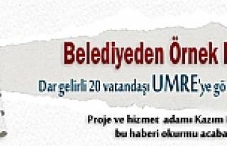 Belediye 20 kişi, ücretsiz Umreye gönderecek