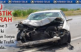Doktor ve Ailesi Tosya'da Meydana Gelen Trafik Kazasında