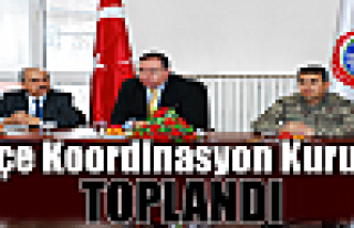 İlçe koordinasyon kurulu Toplandı