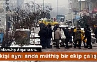 KAR VE BUZLANMAYA KARŞI TOSYA BELEDİYESİ SEFERBER...
