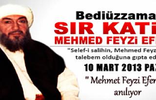 "Mehmet Feyzi Efendi"" anılıyor"