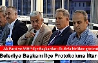 TOSYA BELEDİYE BAŞKANI PROTOKOLA İFTAR YEMEĞİ...