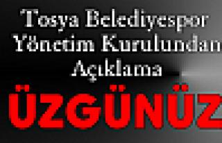 Tosya Belediyespor Kulübü Yönetim Kurulu AÇIKLAMASI