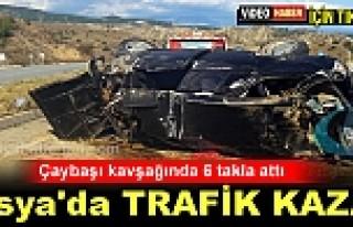 TOSYA-ÇAYBAŞI KAVŞAĞINDA TRAFİK KAZASI: 2 AĞIR...