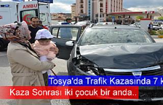 Tosya D-100'de Trafik Kazası 7 Kişi Yaralandı