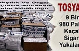 TOSYA'DA 9.980 PAKET KAÇAK SİGARA YAKALANDI