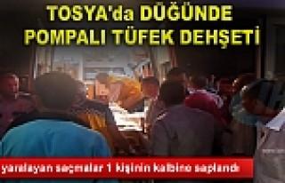 TOSYA'DA DÜĞÜNDE POMPALI TÜFEK DEHŞETİ...