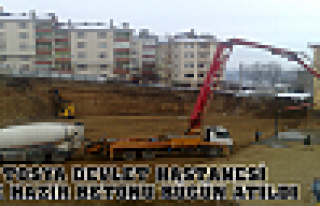 Tosya Devlet Hastanesi ilk Hazır Beton Atıldı