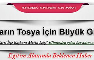 TOSYA FEN LİSESİ İÇİN SON ŞANS 15 MAYIS