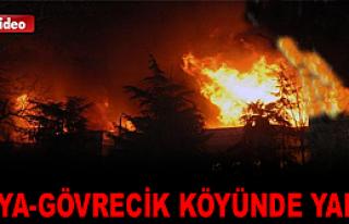 TOSYA-GÖVRECİK KÖYÜNDE YANGINDA 2 KATLI EV TAMAMEN...