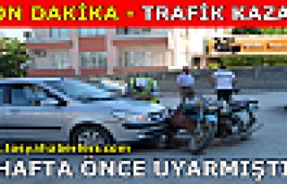Tosya Hastane Kavşağında Trafik Kazası