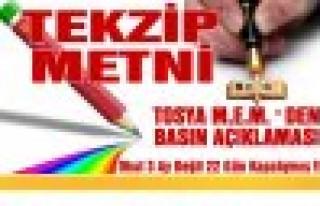 Tosya İlçe Milli Eiğitim Müdürlüğünden Basın...