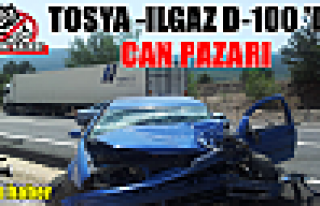 Tosya - Ilgaz D-100'de Trafik Kazası