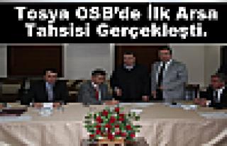 Tosya OSB'de ilk arsa tahsisi gerçekleşti.