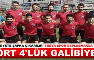 TOSYA SPOR DEPLASMANDA YOL SPOR'U 4-2 YENDİ