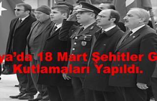 Tosya'da 18 Mart Şehitler Günü Kutlamaları Yapıldı.