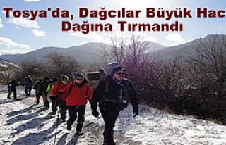 Tosya'da, Dağcılar Büyük Hacet Dağına Tırmandı