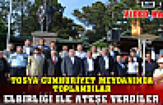 Tosya'da Doğalgaz Elbirliği ile Ateşe Verildi