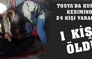 TOSYA'DA KURBAN KESİMİ SIRASINDA 1 KİŞİ ÖLDÜ...