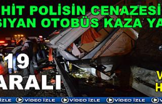 Tosya'da Trafik Kazası 19 Polis Yaralı