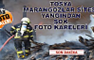 TOSYA'DA YANGINDAN ''FOTOĞRAF KARELERİ ''