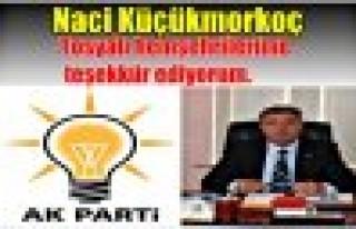 AK Parti Tosya ilçe başkanı Naci Küçükmorkoç`un...