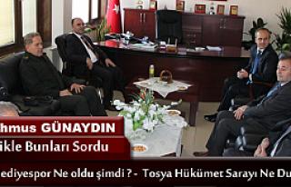 VALİ ŞEHMUS GÜNAYDIN TOSYA'YA GELDİ