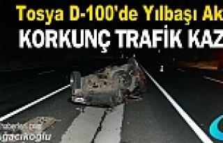YILBAŞI GECESİ TOSYA D-100'DE KORKUNÇ TRAFİK...