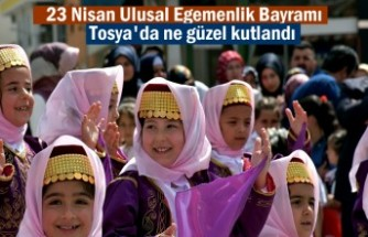 23 Nisan Ulusal Egemenlik Bayramı Tosya'da çoşku içinde Kutlandı