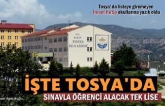 Tosya'da 9 liseden bir Lise Öğrenci almaya hak kazandı
