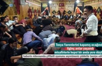 Tosya Yaren ocağında misafirler yerde yuvarlandı