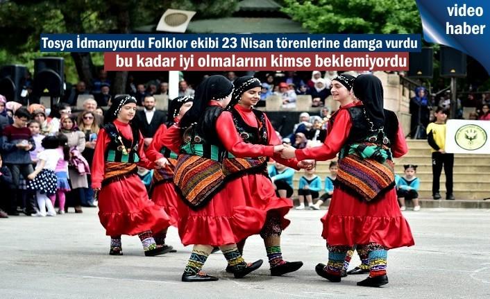 Tosya İdmanyurdu Folklor gösterisi 23 Nisan Törenlerine damga vurdu