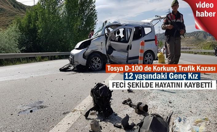 Tosya'da Trafik Kazasında 12 yaşındaki kız çocuğu feci şekilde hayatını kaybetti