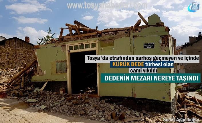 Kürük Dede türbesi taşındı tarihi Cami yıkıldı