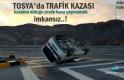 Tosya'da Trafik Kazasında Takla atan Kamyonet içindeki 2 kişi yaralandı