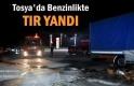 Tosya'da Benzinlikte TIR Yangını