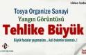 Tosya'da Organize Sanayide yangın Görüntüsü