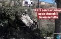 Tosya'da Tarlaya uçan otomobili Telgraf Telleri Tuttu