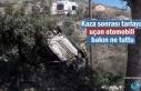 Tosya'da Tarlaya uçan otomobili Telgraf Telleri...