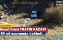 Tosya Bayat Köyünde Otomobil Uçuruma Yuvarlandı
