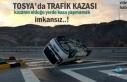 Tosya'da Trafik Kazasında Takla atan Kamyonet içindeki...