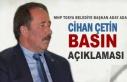 MHP Tosya Belediye Başkan Aday Adayı Cihan Çetin...