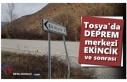 Tosya'da Deprem'in Merkezi Ekincik Köyü