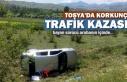 Tosya-Sapaca Köyü Mevkiinde Korkunç Trafik Kazası