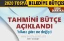 TOSYA BELEDİYESİ 2020 TAHMİNİ BÜTÇESİ BELLİ...