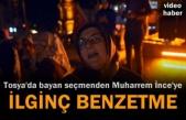 Tosya'da kutlama yapan seçmenden Muharrem İnceye Süzme yoğurt benzetmesi