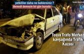 Tosya Trafo Merkezi Kavşağında Trafik Kazası