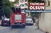 Tosya'da Yangına Müdahale Etmek İsteyen İtfaiye Aracına Trafik Engeli